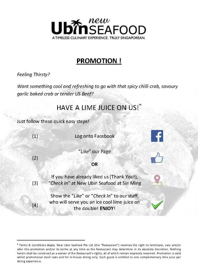 LIME JUICE PROMOTION (1 OCT 2013)