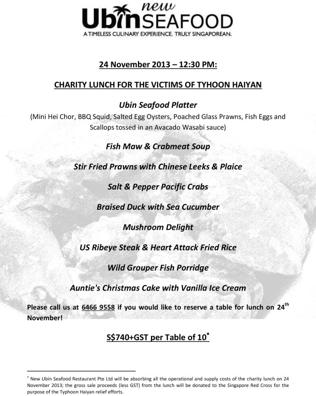 24 November Event Set Menu Flyer (A5)
