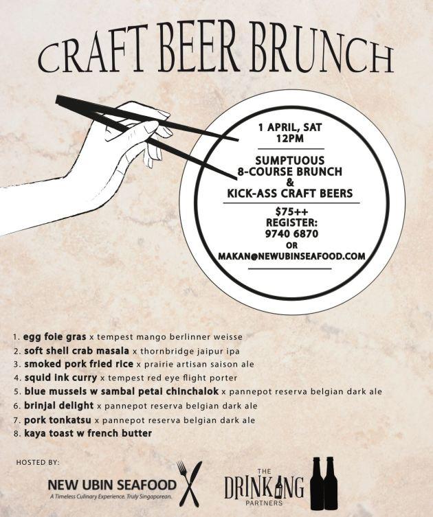 Cze Char Beer Brunch - 1 Apr 2017